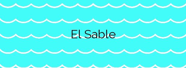 Información de la Playa El Sable en Arnuero