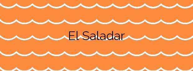 Información de la Playa El Saladar en Águilas