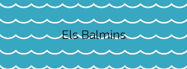Información de la Playa Els Balmins en Sitges