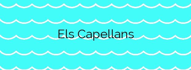Información de la Playa Els Capellans en L'Ampolla