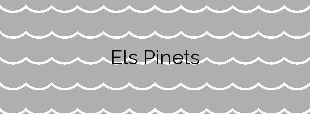 Información de la Playa Els Pinets en Benissa