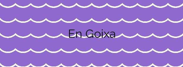 Información de la Playa En Goixa en Colera