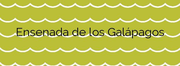 Información de la Playa Ensenada de los Galápagos en Melilla