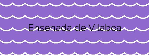 Información de la Playa Ensenada de Vilaboa en Vilaboa