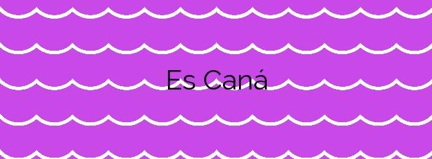 Información de la Playa Es Caná en Santa Eulalia del Río