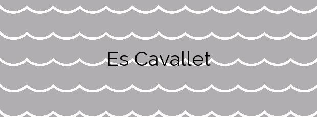 Información de la Playa Es Cavallet en Sant Josep de sa Talaia