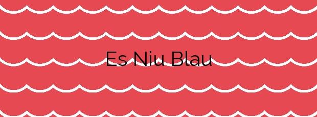 Información de la Playa Es Niu Blau en Santa Eulalia del Río