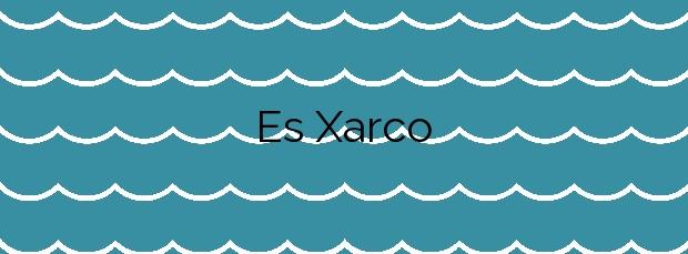 Información de la Playa Es Xarco en Sant Josep de sa Talaia