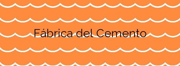 Información de la Playa Fábrica del Cemento en Málaga
