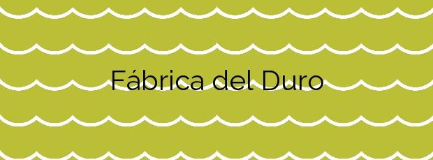 Información de la Playa Fábrica del Duro en Cuevas del Almanzora