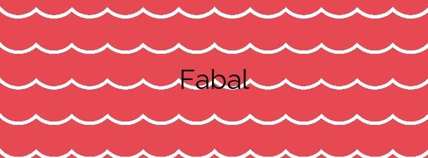 Información de la Playa Fabal en Navia