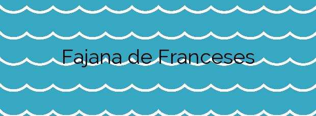 Información de la Playa Fajana de Franceses en Garafía