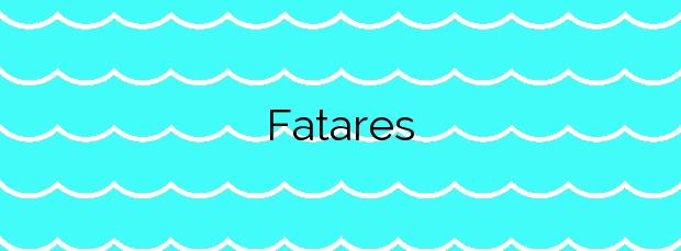 Información de la Playa Fatares en Cartagena