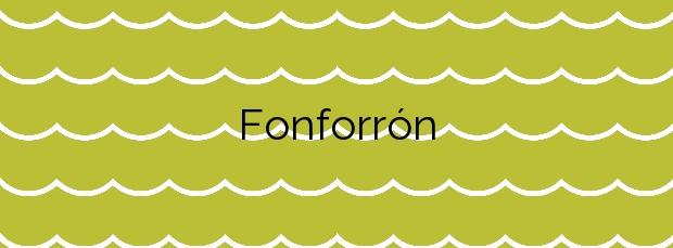 Información de la Playa Fonforrón en Porto do Son