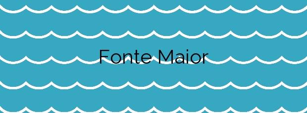 Información de la Playa Fonte Maior en Poio
