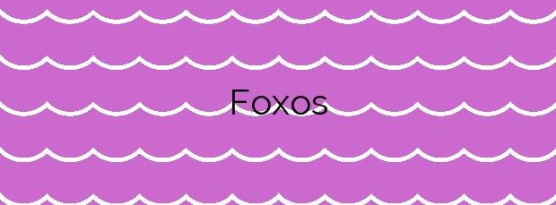 Información de la Playa Foxos en Coaña