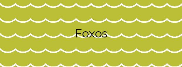 Información de la Playa Foxos en Sanxenxo