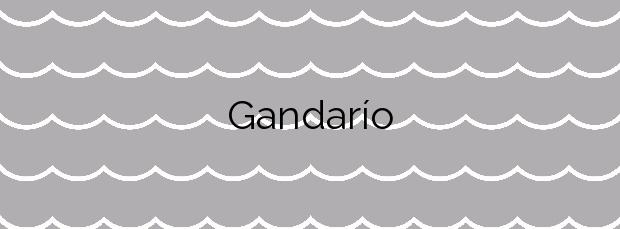 Información de la Playa Gandarío en Bergondo