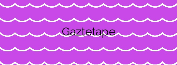 Información de la Playa Gaztetape en Getaria