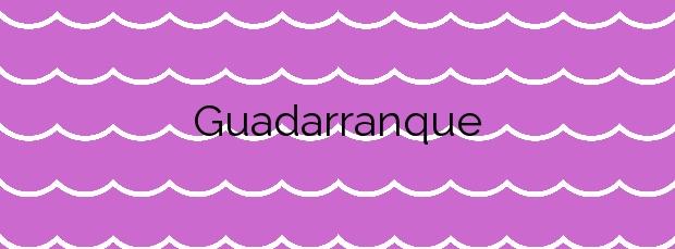 Información de la Playa Guadarranque en San Roque