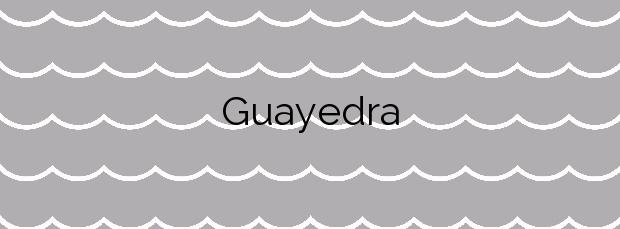 Información de la Playa Guayedra en Agaete