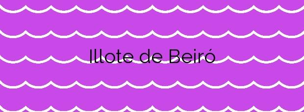 Información de la Playa Illote de Beiró en Cambados