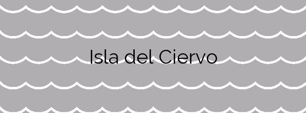 Información de la Playa Isla del Ciervo en Cartagena