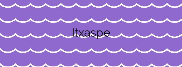 Información de la Playa Itxaspe en Deba