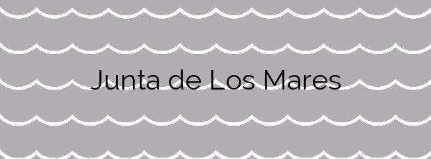 Información de la Playa Junta de Los Mares en Mazarrón