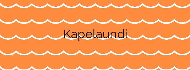 Información de la Playa Kapelaundi en Hondarribia