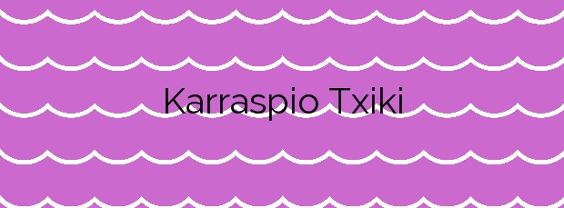 Información de la Playa Karraspio Txiki  en Mendexa