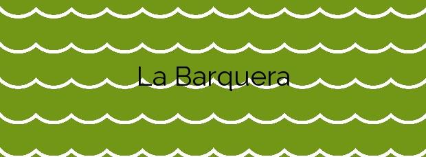 Información de la Playa La Barquera en Cudillero