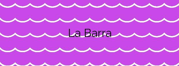 Información de la Playa La Barra en Cartagena