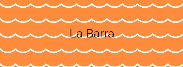 Información de la Playa La Barra en Sitges