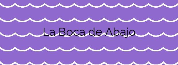 Información de la Playa La Boca de Abajo en Tinajo