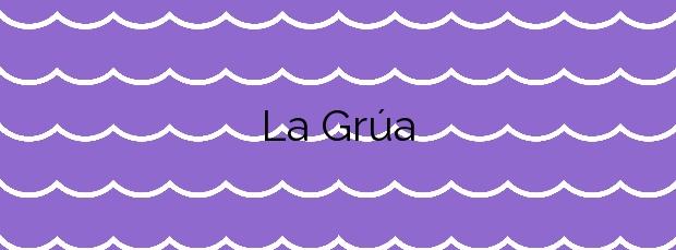 Información de la Playa La Grúa en Mazarrón