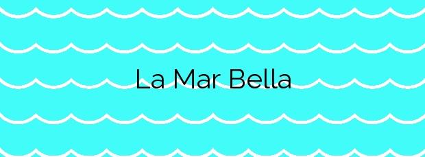 Información de la Playa La Mar Bella en Barcelona