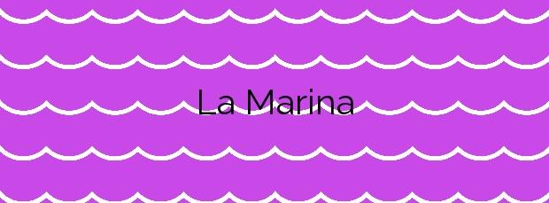 Información de la Playa La Marina en Elche