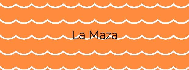 Información de la Playa La Maza en San Vicente de la Barquera