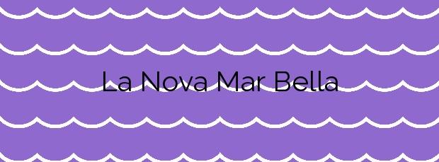 Información de la Playa La Nova Mar Bella en Barcelona