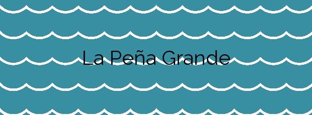 Información de la Playa La Peña Grande en Tías