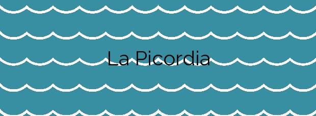 Información de la Playa La Picordia en Arenys de Mar