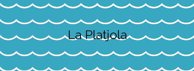 Información de la Playa La Platjola en Sant Pol de Mar