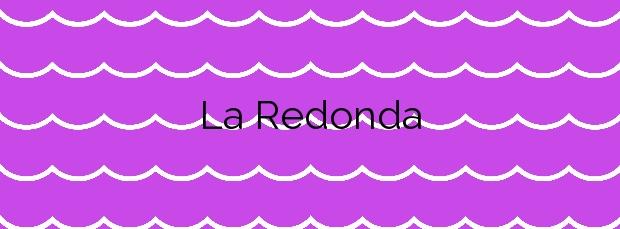Información de la Playa La Redonda en Gáldar
