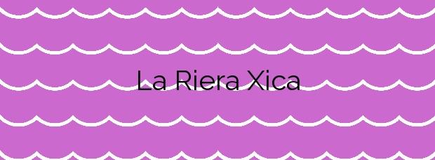 Información de la Playa La Riera Xica en Sitges