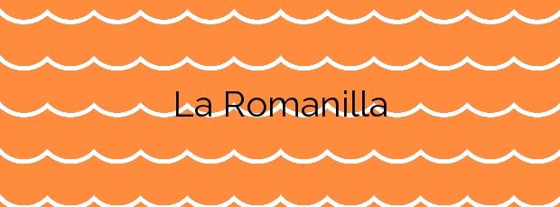 Información de la Playa La Romanilla en Roquetas de Mar