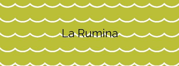 Información de la Playa La Rumina en Mojácar