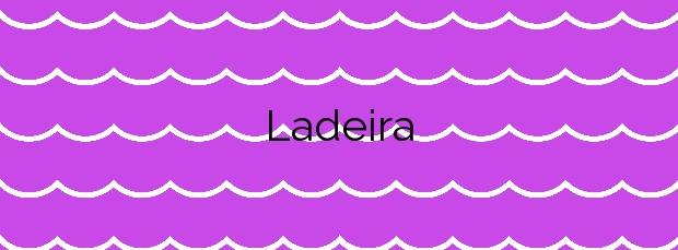 Información de la Playa Ladeira en Baiona
