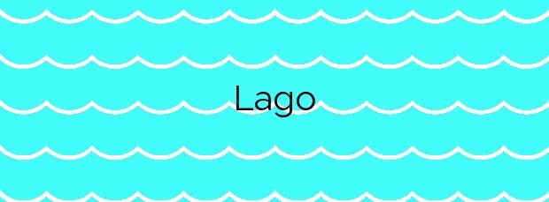Información de la Playa Lago en Xove