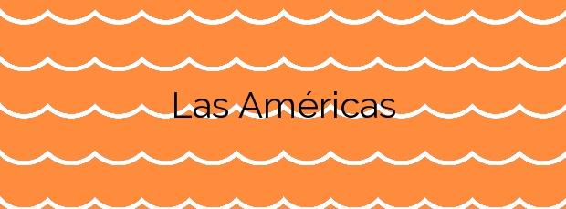 Información de la Playa Las Américas en Adeje